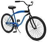 Critical Cycles 2355 Chatham Strand Cruiser für Herren - Blau/Schwarz, 1-Gang/26 Zoll