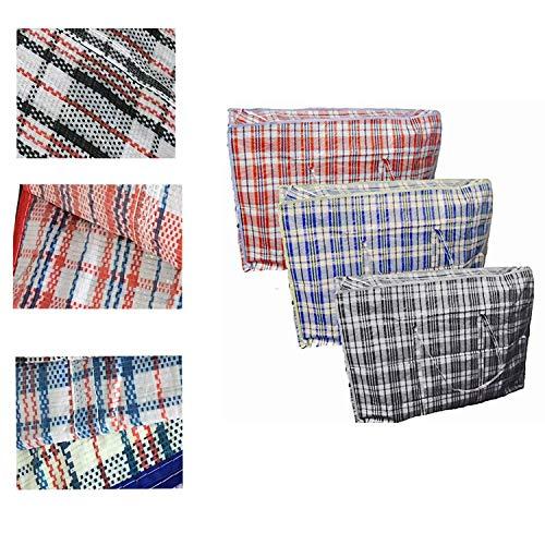 Grids London Lot de 10 sacs zippés réutilisables pour le linge/le shopping XL