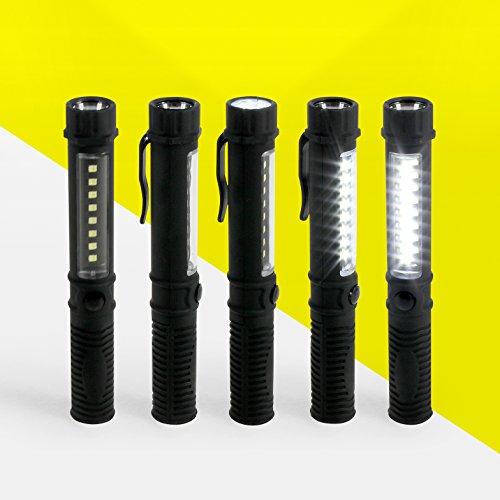 STYLETEC-LED-Taschenlampe-Taschenleuchte-Factory-Leuchte-40-Lumen-mit-Magnet-und-Befestigungsclip-in-schwarz