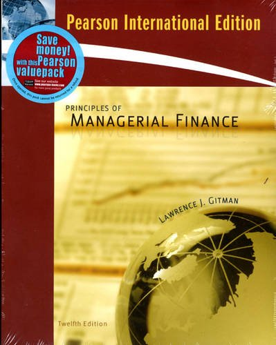 gitman l j 2009 principles of managerial finance 12th ed boston pearson addison wesley Outlines & highlights for principles of managerial finance by gitman,  addison wesley:  for principles of managerial finance by lawrence j gitman,.
