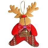 Cloud ROM Weihnachtsbaum Anhänger Vliesstoff Puppe Hang Deko Weihnachten Dekoration Geschenk Weihnachtsfenster-Verzierungen Anhänger Baumschmuck Weihnachten Deko Tür Fenster Home Deko Tischdeko (D)