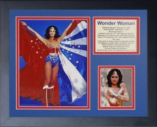 Legenden Sterben Nie Wonder Woman Cape gerahmtes Foto Collage, 11x 35,6cm von Legends Never Die