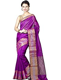 Chandrakala Cotton Silk Saree (8437_Purple)