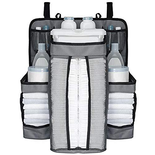 Class-Z Baby Windel Caddy, Baby Windelablage Organizer Multifunktionale Tragbar Aufbewahrungskorb Tragetasche mit Trennfächern für Kinderzimmer, Auto und Reisen