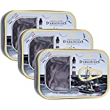 Chevaliers d'Argouges Boîte sardine 100g garnie de fritures chocolat noir 70% pour Pâques - Lot de 3