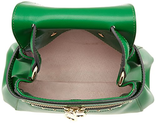 TWIN SET As7pw4, Borsa a Tracolla Donna, 10 x 18 x 23 cm (W x H x L) Verde (Grass Green)