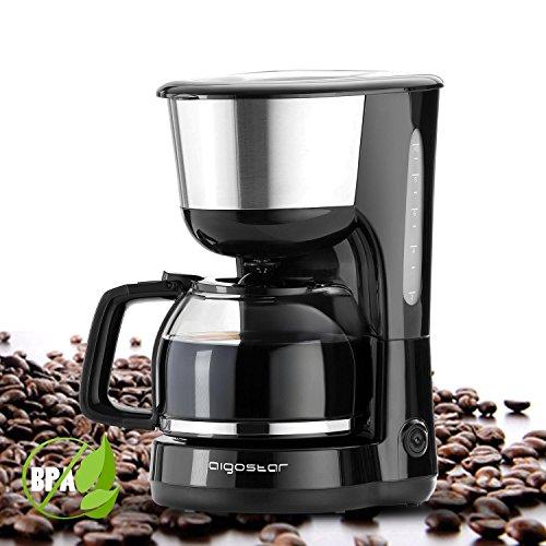 Aigostar Basic Black &White – Máquina de café, 1000W cafetera de filtro