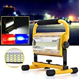 MASUNN Portable 100W 100 LED Lavoro Luce Ricaricabile all'aperto 3 Colori Spot Camping Flood Lampada