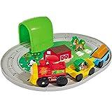 Unbekannt Holz Baby-Spielzeug Tier-Eisenbahn Set 18-teilig mit Licht und Sound-Funktion - Kleinkind Spiele Set Bauernhof Lokomotive Zug Tiere