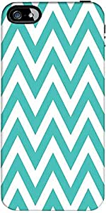 Snoogg simple blue wave 2531 Hard Back Case Cover Shield ForApple Iphone 5 / 5s