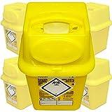 Qualicare Sharps Safe ago siringhe insulina chirurgia smaltimento rifiuti Bin box–4litri, 6pezzi
