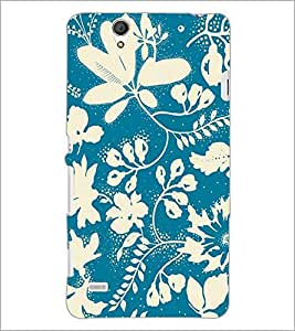 PrintDhaba Floral Pattern D-1472 Back Case Cover for SONY XPERIA C4 (Multi-Coloured)