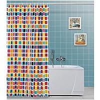 Tenda doccia in vinile, con quadretti colorai vari L