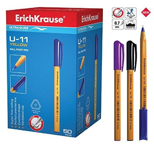 Preisvergleich Produktbild 50 Kugelschreiber U-11 Packung EK-37055 orange Schreibfarbe blau