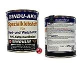 670 mL Bindu-AK5 PVC-Kleber - Spezial PCV Kleber - Klebstoff für Hart PVC & Weich-PVC für eine verschweißte Verbindung - klebt PVC mit Leder Stoff Hol Kunststoff, Dachrinnen PVC-Platten moderne PVC-Planen Teichfolie Pool Vinyl