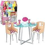 Barbie - Muebles Comedor - Mesa y Sillas con Accesorios
