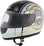 ROADSTAR Integral-Helm Mini , Dekor Nightmare weiß Größe XL