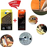 #5: Professional Tool- Drill Bit Set 13 Pieces For Wood, Malleable Iron, Aluminium, Plastic & Masonry Drill Bit Set 5 Pcs for Concrete and Brick Wall Drilling | drill bit set for metal |drill bit set hex shank | drill bit set and drill | Power tool Combos |