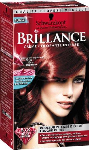 schwarzkopf brillance coloration permanente rouge intense 872 - Coloration Rouge Permanente
