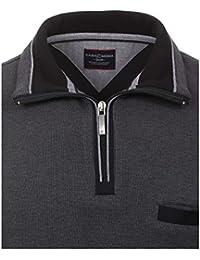 Casa Moda - Herren Troyer aus 100 % Baumwolle und mit abgesetztem Kragen (462522300 A)