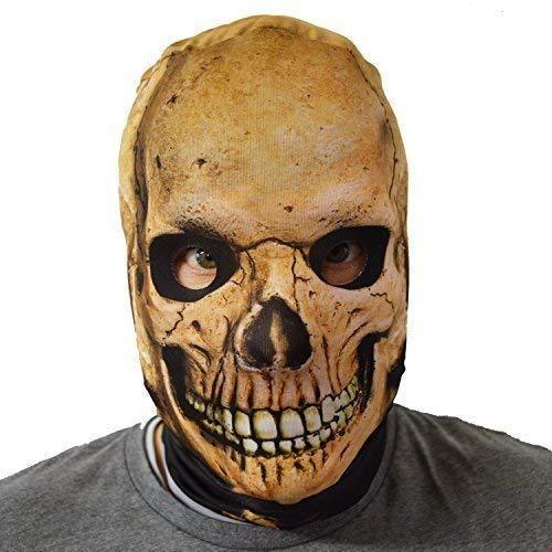 Skelett Kostüm Lycra - gruselig Halloween Gesichtsmaske Fear the Reaper Totenkopf Skelett Kostüm Horror