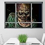 TPulling Halloween Dekoration  Mode Kreative Stereo 3D Gefälschte Fenster Wandaufkleber Haushalt Zimmer Halloween Zombie Aufkleber Wandbild Decal Removable Terror Dekoration Party Decor (A)