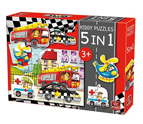 King KNG05076 Kiddy - Puzzle 5 en 1 para Coche