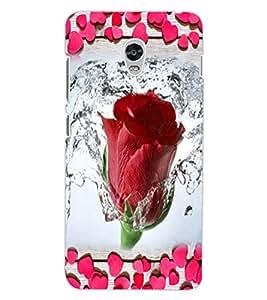 ColourCraft Lovely Rose Design Back Case Cover for LENOVO VIBE P1