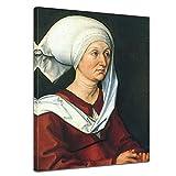 Kunstdruck mit Winter SALE - Albrecht Dürer 'Portrait - Barbara Dürer' 30x40cm einteilig - Alte...