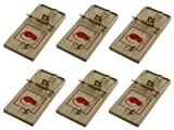 BRAND NEW WOODEN TRADITIONAL 6 PC OF REUSABLE MOUSE TRAP / MICE KILLER - NO POISON NECESSARY - EASY TO USE AND REUSABLE- NOT A TOY KEEP AWAY FROM CHILDREN from HOME-BARGAIN-GARDEN