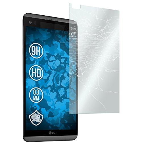PhoneNatic 2 x Glas-Folie klar kompatibel mit LG V20 - Panzerglas für V20