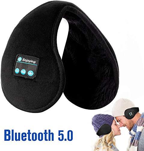 Cache Oreilles Ecouteurs - Bluetooth Unisexe Pliables Chauffe Oreilles,Bluetooth 4.2 Sans Fil Musique Oreillettes avec Microphone pour l'hiver en Plein Air