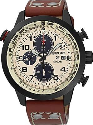 Seiko-Reloj de pulsera hombre Prospex Cronógrafo Cuarzo Piel ssc425p1