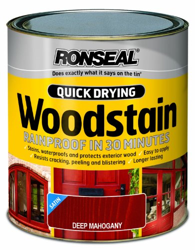 ronseal-qdwsdm250-250ml-woodstain-quick-dry-satin-deep-mahogany