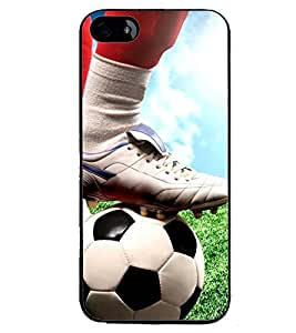 Printvisa Footballer Starting The Action Back Case Cover for Apple iPhone 5