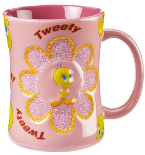 looney-tunes-titi-mug-en-cramique-relief-avec-paillettes