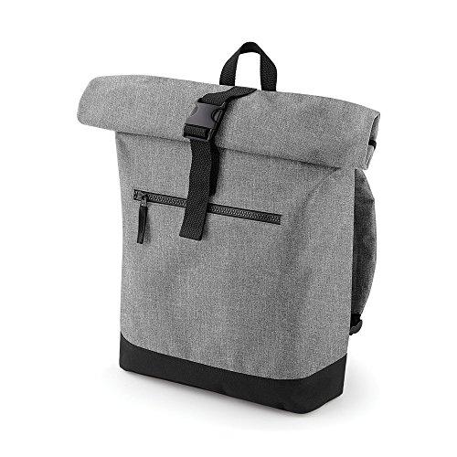 Bagbase Roll-Top Rucksack (12 Liter) (Einheitsgröße) (Grau meliert) -