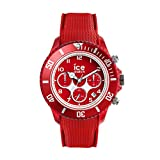 Ice-Watch - ICE dune Forever red - Rote Herrenuhr mit Silikonarmband - Chrono - 014219 (Large)