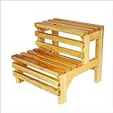 XW Sgabello multifunzionale Scaletta per bagno con doppio gradino in legno massello