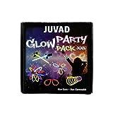 JUVAD Glow Party Pack XXL Speciale Accessori - 150 Pezzi Braccialetti Luminosi Fluorescenti Party Pack e Accessori : Occhiali, Orecchie, Palla, Bracciali, Collane, Tubi Fluo, Bastoncini Fosforescenti