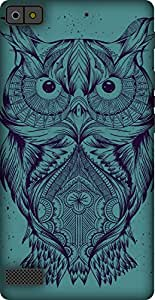 The Racoon Grip printed designer hard back mobile phone case cover for Blackberry Z3. (Blue Illus)