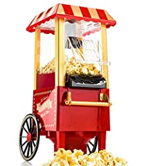Idea Regalo - Gadgy Popcorn Machine - Retro Macchina Pop Corn Compatta, Aria Calda Senza Olio Grasso