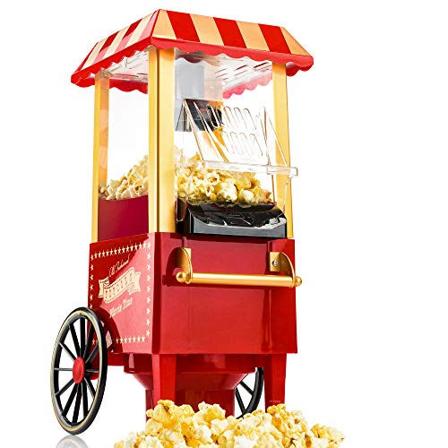 Gadgy  Machine à Pop Corn | Retro Popcornmaschine Maker | Air Chaud Sans Gras Huile