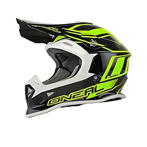 O'Neal 2Series MX Helm Manalishi Schwarz Neon Gelb Motocross Enduro Offroad, 0200E-30, Größe XL (61/62 cm)