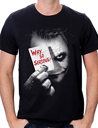 Batman Joker Why So Serious-T-shirt  Uomo    nero S