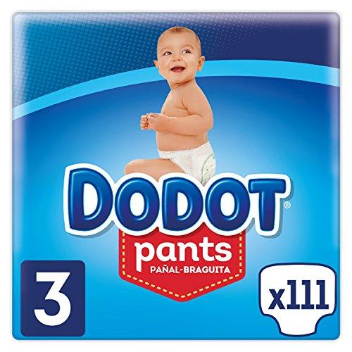 Dodot Pants Pañal-Braguita Talla 3, 111 Pañales, Fácil De Cambiar Con Canales De Aire, 6-11kg