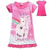 Bambini Adorabili Pigiama Abito Unicorn Camicia da Notte con Animali Stella Arcobaleno Cotone Ha Stampato Il Fumetto Abiti Casual per Ragazze