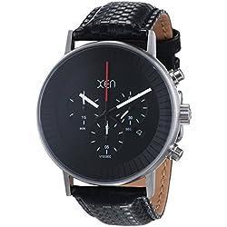 Xen Herren-Armbanduhr XL Chronograph Quarz Leder XQ0204
