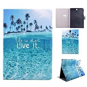 ZeWoo Étui Folio en Similicuir - MM013 / Tahiti - Samsung Galaxy Tab A 9.7 T550N T550 (9.7 Pouces) Case Housse Coque