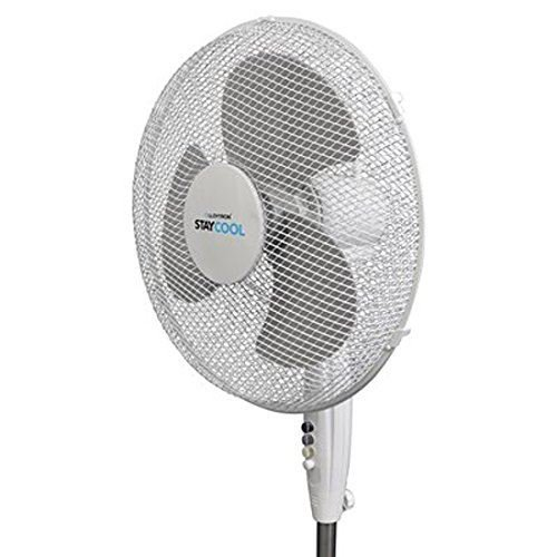 51hN59ielFL. SS500  - STAYCOOL Lloytron F1221WH Stay Cool Pedestal Fan, 50 W, White, Plastic